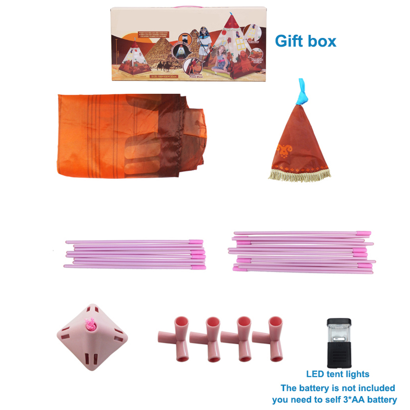 Portable Indian Pattern Toys Tent Play Teepees Safety Tipi Playhouse Activity House Kids Funny Indoor Game Outdoor Beach Tents (13)