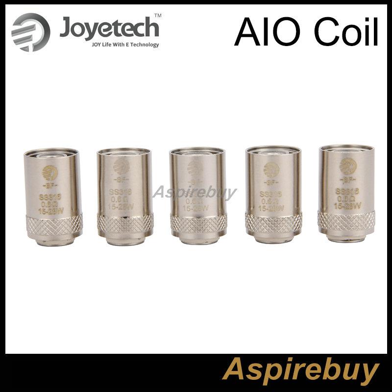 100% Original Joyetech SS316 0.6ohm Coil Head Joyetech AIO Coil 0.6ohm 15-28W fit for Ego Aio Kit BF SS316 Coils 0.6ohm DHL Free Shipping