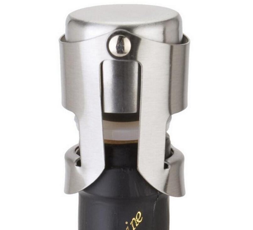 Portable Stainless Steel Wine stopper Vacuum Sealed Wine Champagne Bottle Stopper Cap