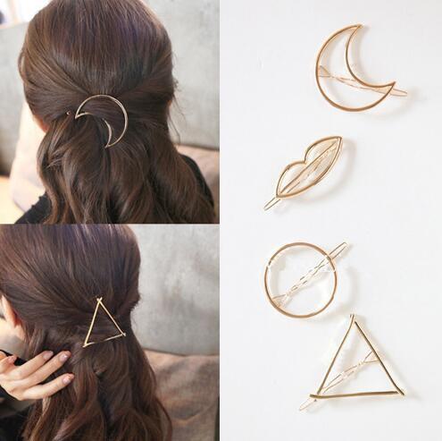 Geometrie Haarspange Dreieck Haarnadel Haarklammer Haar Accessoires Silber//Gold