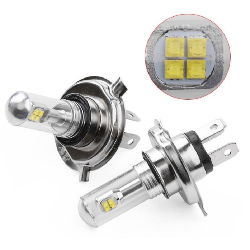 2x 8-LED Luz Antiniebla H7 2525 Bombilla de DRL 80W 1500Lm 6000K Vehículos