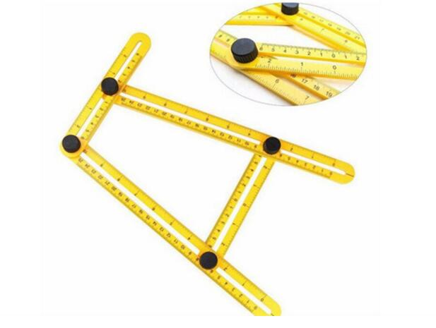 NEW MULTI ANGLE RULER MEASURING 4 SIDED SCALE TEMPLE TOOL ANGLE-IZER BUILDERS
