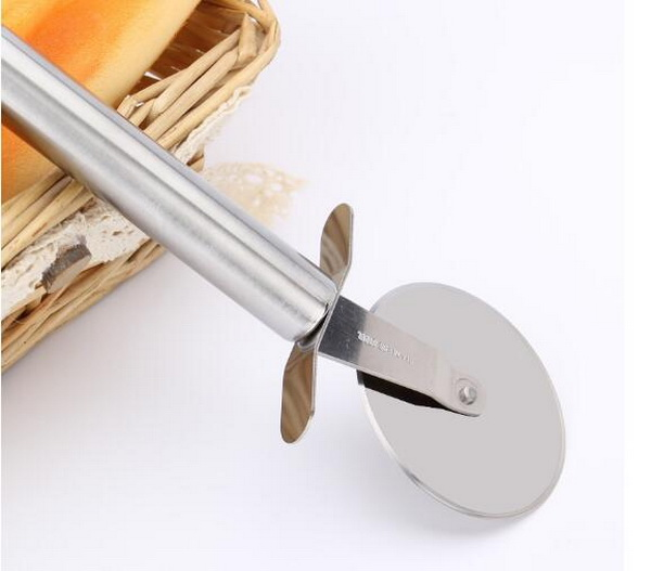 Stainless Steel Single Roller Pizza Cutter knife For Cut Pizza Tools Kitchen Accessorie Pizza Wheels