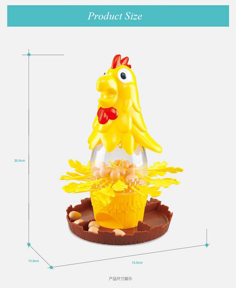 Chicken Don\'t Drop Egg Game Child Exciting Fun Pull Out Feathers Toy Gift Family Educational Parent-Child Interactive Game Toys (9)