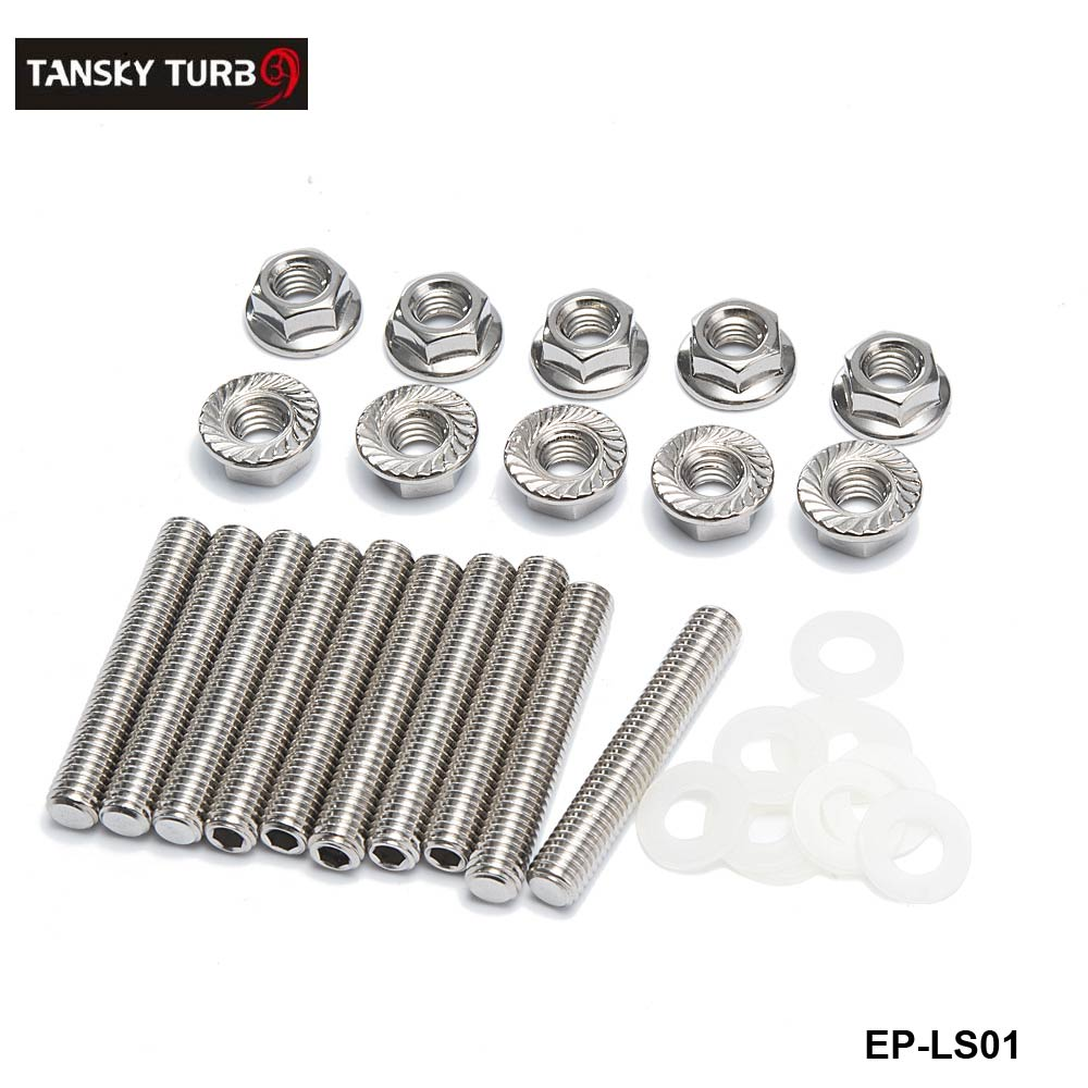 1Set Silver Extended Stud Intake Manifold Bolt Kit Stainless Steel Bolt Kit Tool