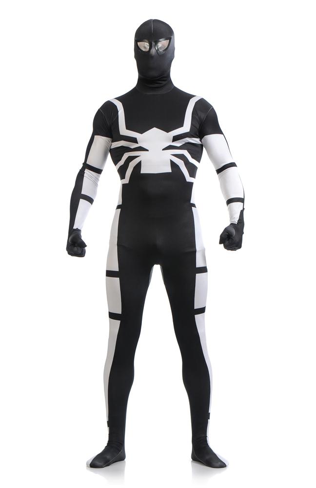 Venom Black Spiderman HalloweenCosplay Costume Spandex Lycra Zentai suit Unisex