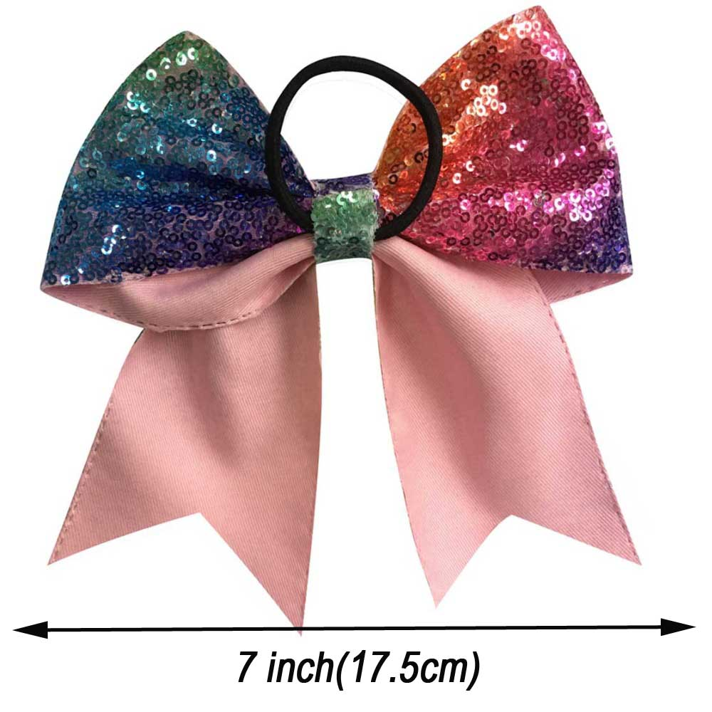 7-Top-Quality-Women-Rainbow-Bows-Boutique-Bling-Sequin-Ribbon-Large-Hair-Bow-With-Elastic-Girls (1)