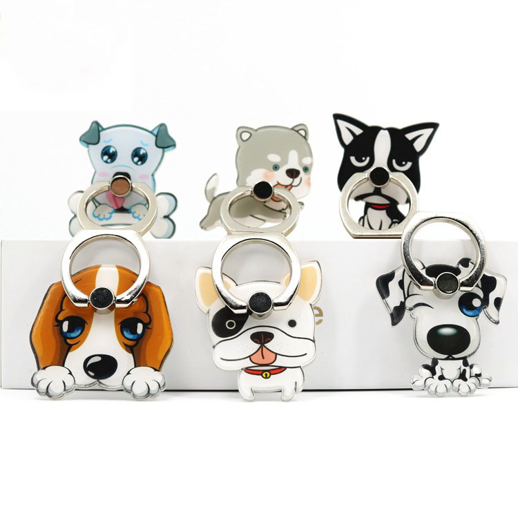 Cell Phone Ring Holder Cat Shape 360 Degrees Rotation Stand Works for All Smartphone and Tablets-Baby Emperor Penguin