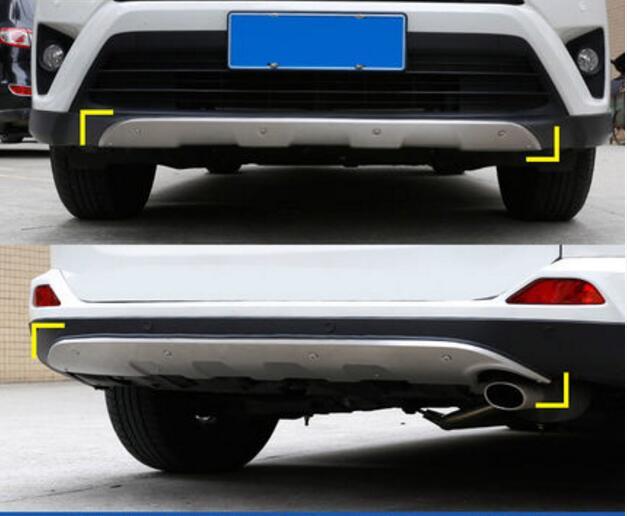 Stainless Steel Car Rear Inner Bumper Plate Trim Fit Toyota Estima 2016 2017