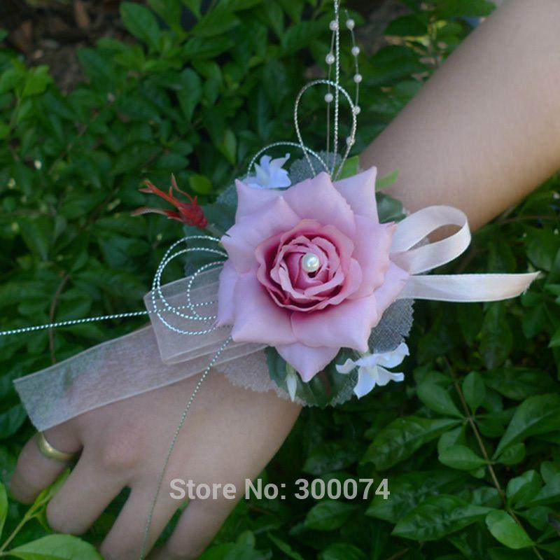 Hot pink wedding corsages