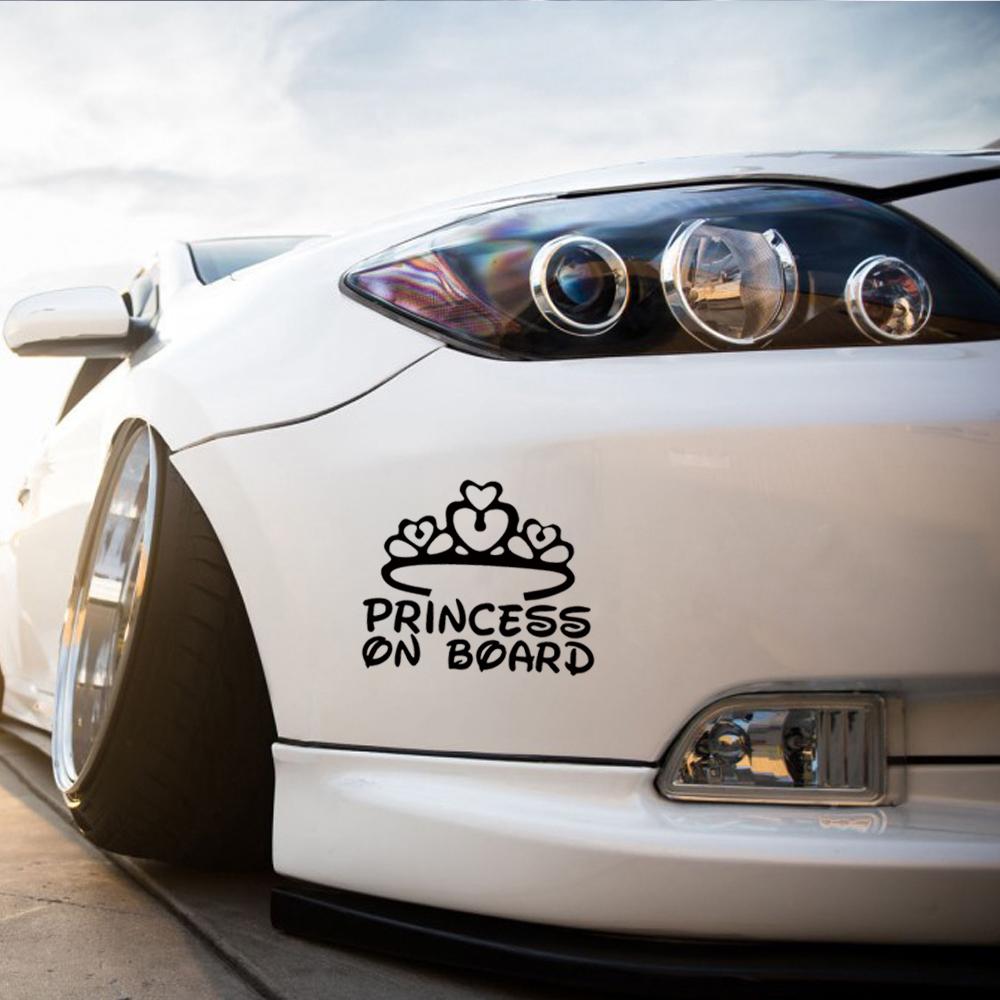 Princesse Panneau Sticker en vinyle pare-chocs Princess On Board nouveaut/é style voiture Panneau panneau b/éb/é/à bord b/éb/é/à bord panneau Princess On Board Princesse sur Board