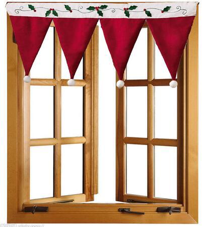 HOT Sale NEW Door Window Drape Panel Christmas Curtain Festival Decorative Home