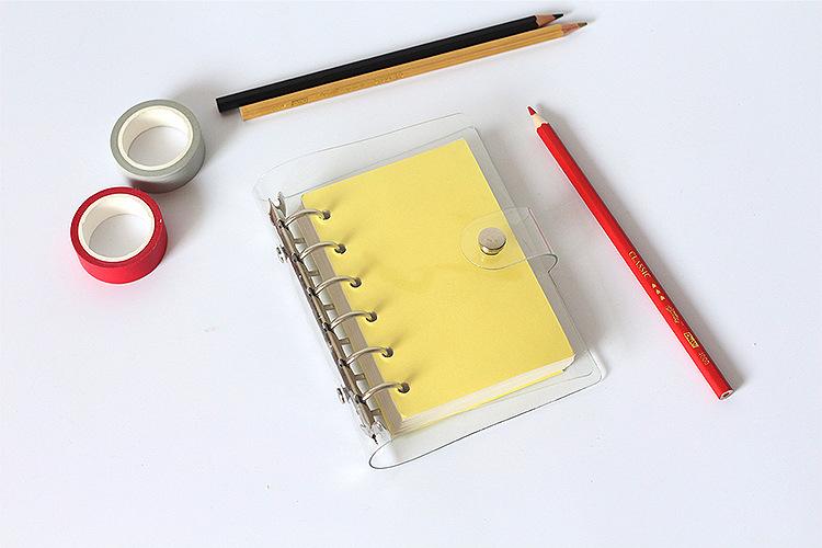 Lineal A5 A6 A7 PVC Planer Agenda für 6 Löcher lose Blatt Spiralen Notebook ZV
