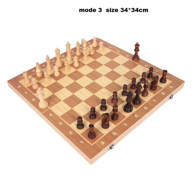 Wooden chess game with chess folding International Chess (7)