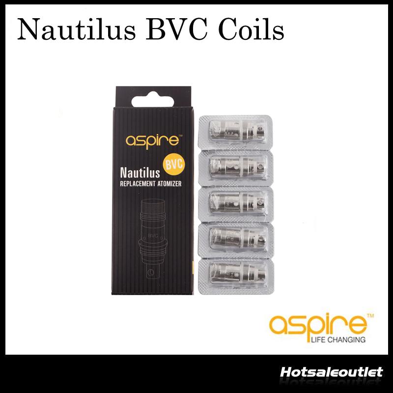 5Pcs replacement BVC coils 1.6//1.8//0.7ohm heads for nautilus CRIT