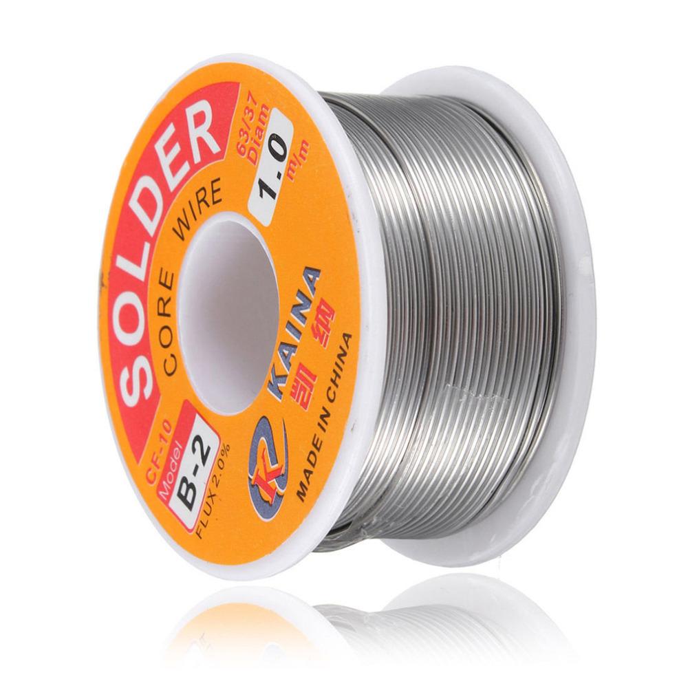 NEWACALOX 2PCS//Set 1 mm nouveau soudure fil de fer Bobine 100g//3.5oz Tin Lead Line Flux