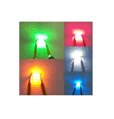 5 rosa LEDs 5mm LED claro azul rojo amarillo verde blanco blanco cálido naranja Pink lila