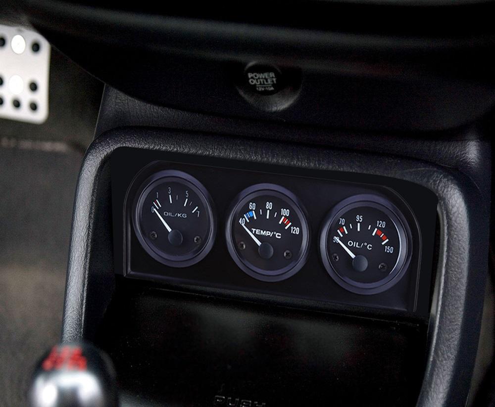 52mm Coche Auto Calibre Medidor De Presión De Aceite Digital Ahumado efecto Alta Calidad Nueva