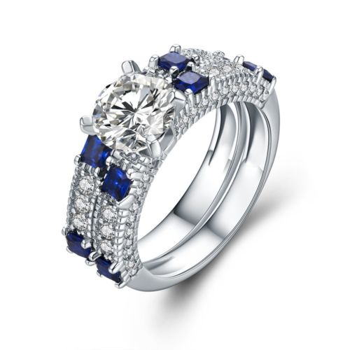 Discount Channel Couple Ring Stone Channel Couple Ring Stone
