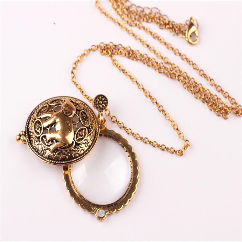 Vintage cabochon verre collier bronze Charme Chaîne Pendentifs : machine à coudre