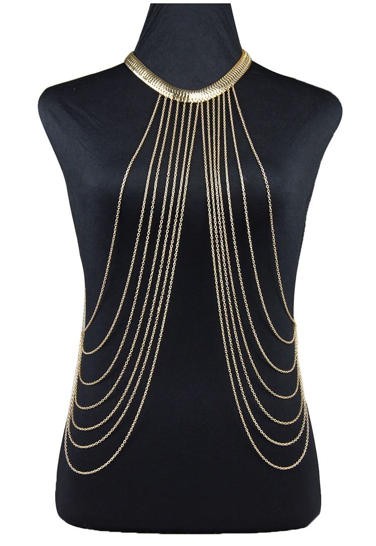 Stylish Shiny Teardrop Leg Body Chain Harness Jewellery Multi Layer Bead UK