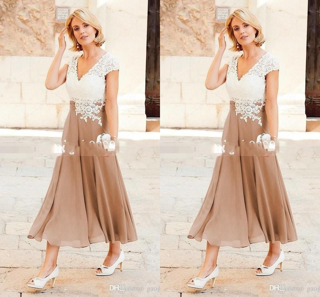 v-ausschnitt chiffon a-linie mutterkleider knöchellange partykleider für  mutter abendgarderobe mit flügelärmeln kleid für die brautmutter