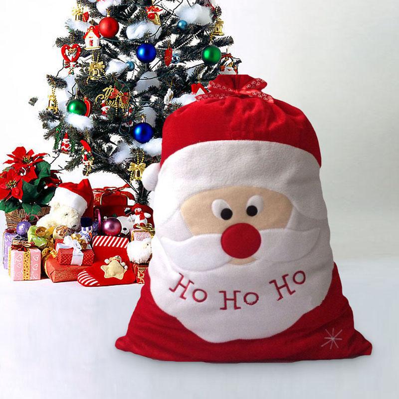 Big Noël Feutre Sacs Cadeau Santa Bonhomme De Neige Noël Enfants Traiter Cadeau Fete