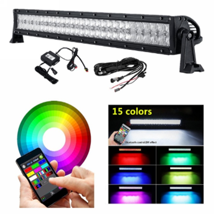 Three Color Modes 15000LM 120W Spot and Flood Beam Combo Lights Dual Row Off Road Fog /& Driving Light Bars for Jeep Ford Trucks Boat 20 inch LED Light Bar Warm White//Amber//White