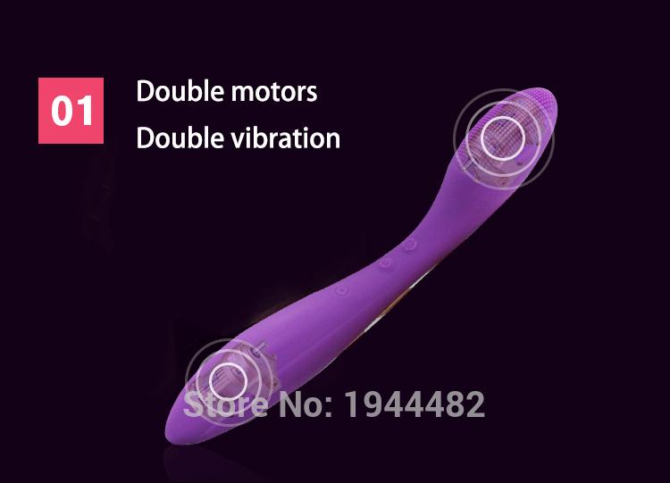 Клитор вибратор, G пятно вибратор волшебная палочка массажер секс-игрушки для женщин, двойной мотор, 12 видов частоты, USB зарядки, Waterpr