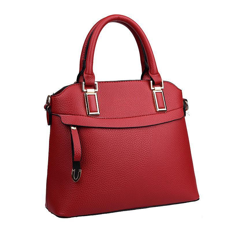 Ladies Totes bags Handbag PU Leather Bag New Handbag Classic Commute Belt Buckle Bag Large Capacity Shoulder Bag Female