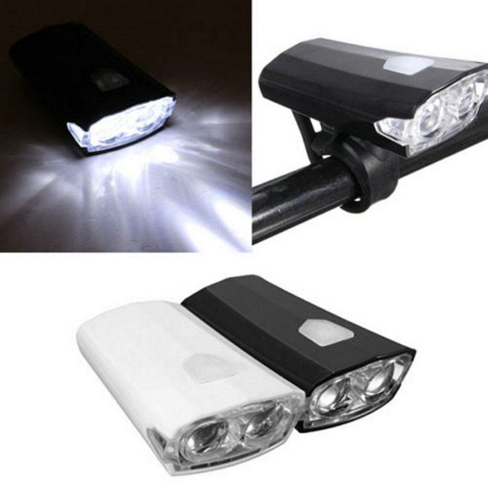 Torch Super Bright LED USB Rechargeable 15 Lumen Front Bike Bicycle Light LA4266