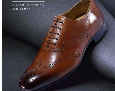 Homme Fait Main Marron Formel Lacets Up robe pur cuir Véritable Chaussures Pour Hommes