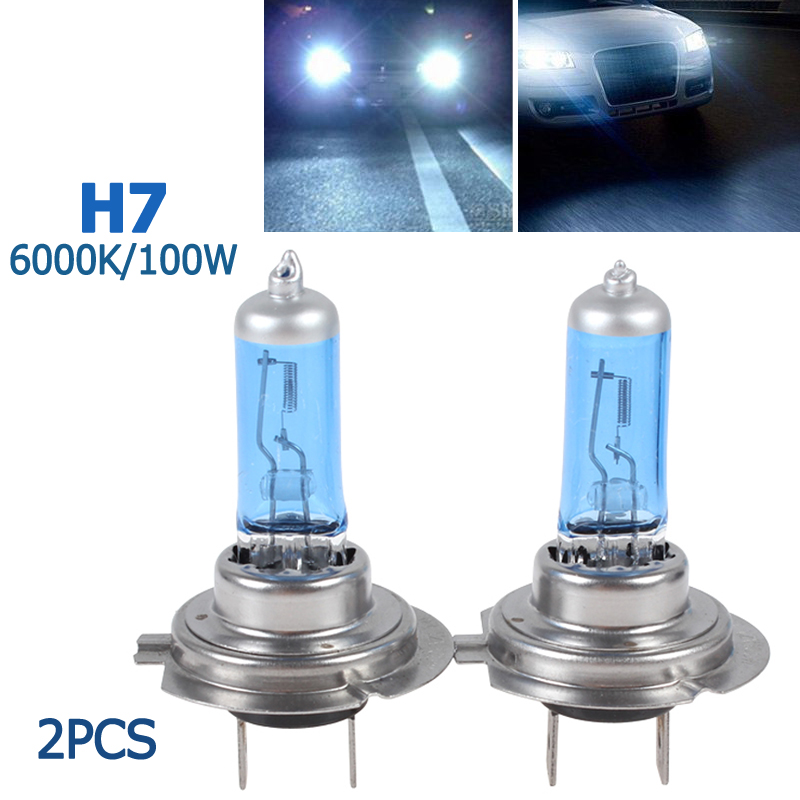 Headlight Kit set 2x H7 6000K Bulbs PURE WHITE FOR PEUGEOT 508 2010