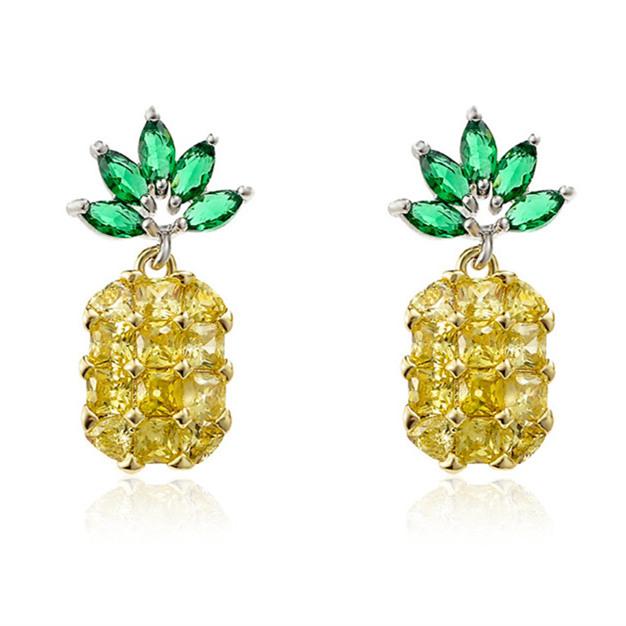 Tropical Fruits Ananas Collier Sweet polyvalent Cristal Pendentif Bijoux