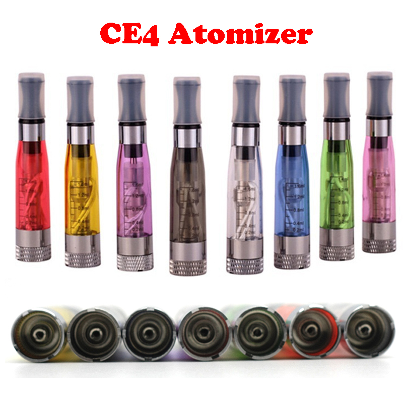 CE4 1.6ml Atomizer ego CE4 Colorful Clearomizer For EGO-T Atomizer E- Cigarette Adapter Ego-t Ego-w Ego-c Twist All 510 Empty Clearomizer
