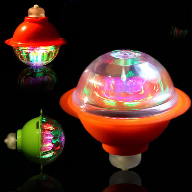 6 x Flash Lumière DEL Laser couleur Gyro Peg Spinner Spinning Top Kid enfant jouet