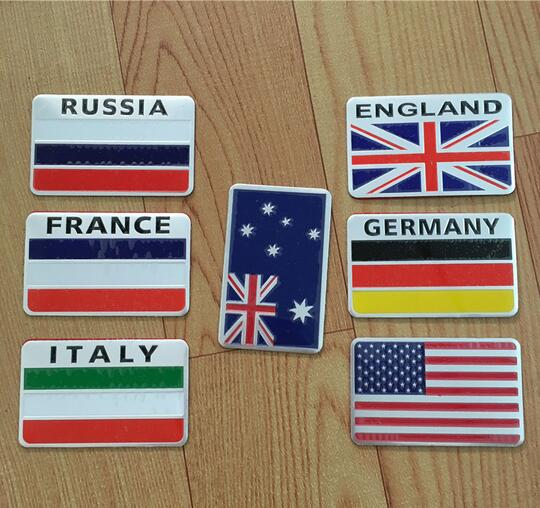 Various Country Flag Front Rear Emblem Badge Car Auto  Sticker Germany 3D