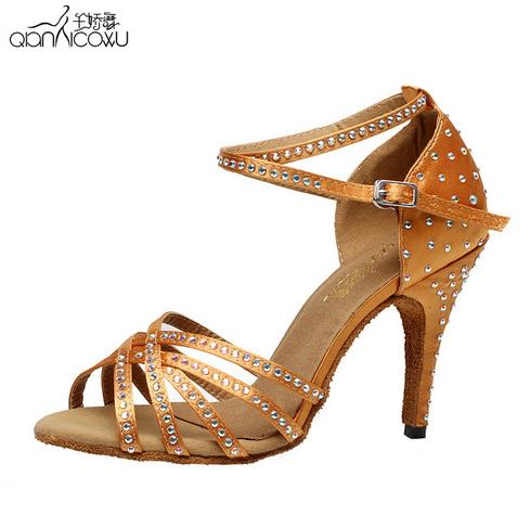 Collocation-Online Womens Sandals Latin Dance Shoes Female Solid Shoe Women Ballroom Tango Salsa Dance Shoes 2019 hot #30,Silver,38,China