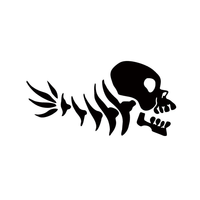 Crâne Et Croix Noir Bones X OS Vélo Réfléchissant Autocollants Decals