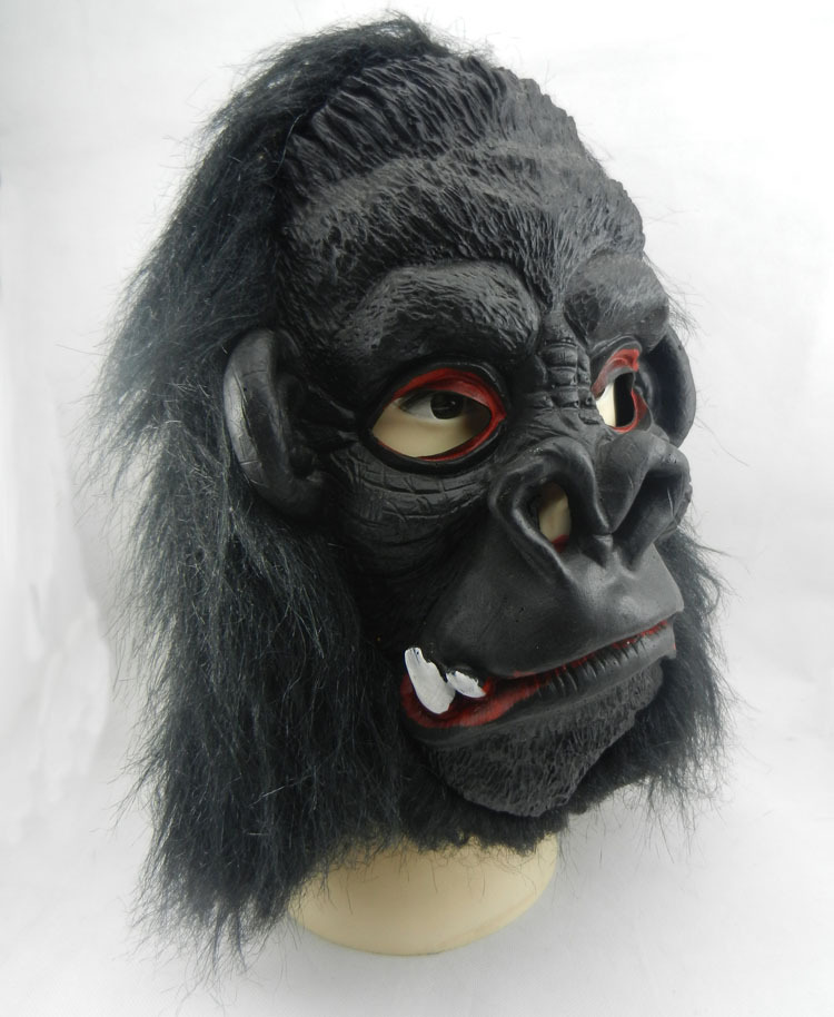 Adulto Máscara De Gorila De Goma De Lujo King Kong Animales Mono Accesorio Disfraz