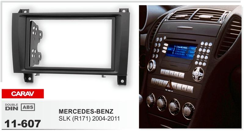 R171 UGAR 11-607 Kit de Panel Frontal de instalaci/ón de Tablero de Radio DIN Doble para Mercedes-Benz SLK 2004-2011