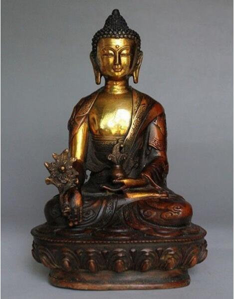 Old China Brass carved Tibetan Buddhist Acalanatha Bodhisattva Buddha Statue