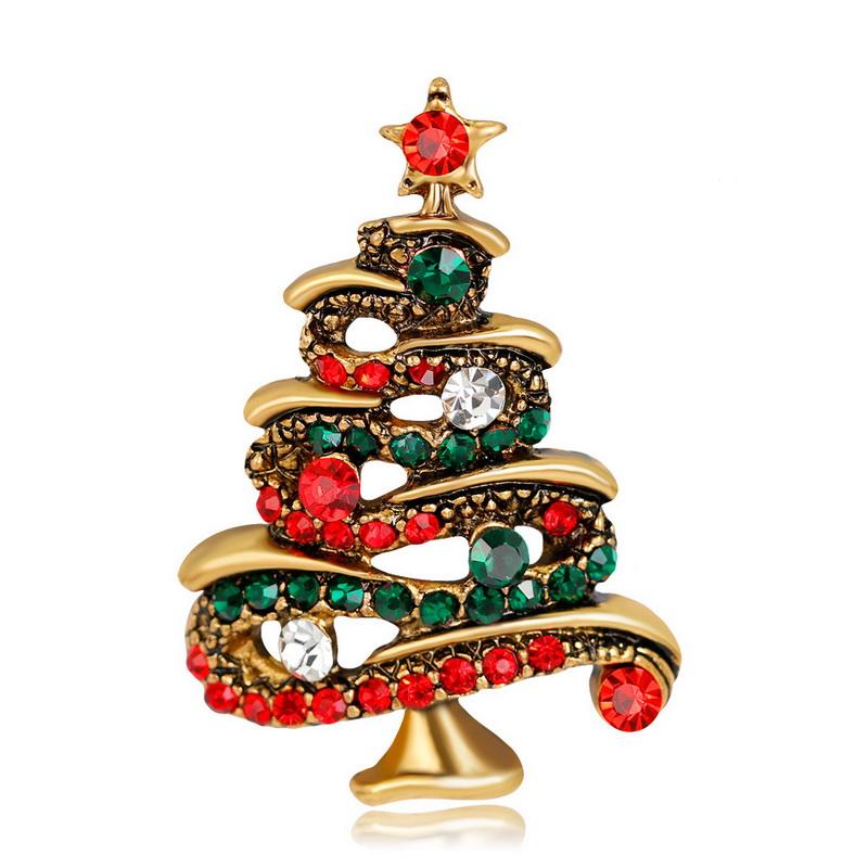 Scarf Buckle Coat Western Ornament Badge Christmas New Year Gift Vintage Coffee Animal Brooch Enamel Pin