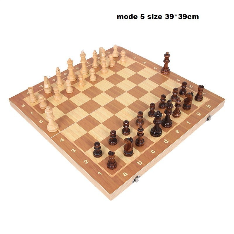 Wooden chess game with chess folding International Chess (2)