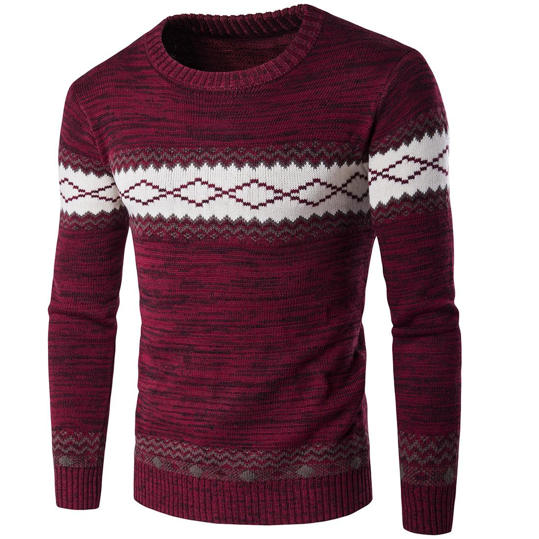 Nuevo jersey para hombre Navidad Novedad Reno Impresión Suéter De Navidad Jumpers Argyle superior