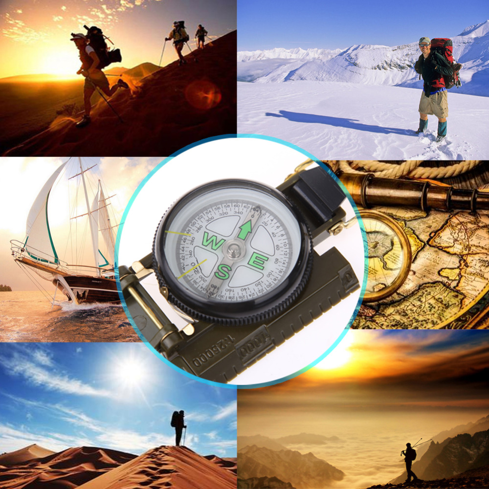 Pocket Sea Marine Pivoting Compass Boat Survival For Outdoor Hiking Camping CB