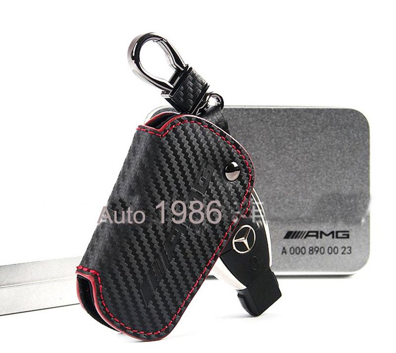 Leder Schlüsseltasche Etui Kette für Audi BMW Mercedes VW Mazda Key Case Cover