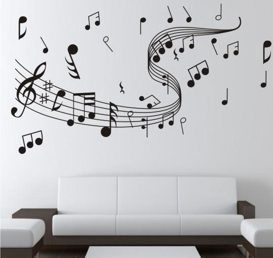 Murales gramófono pared Sticker póster de pared Pegatina de pared imagen símbolos música