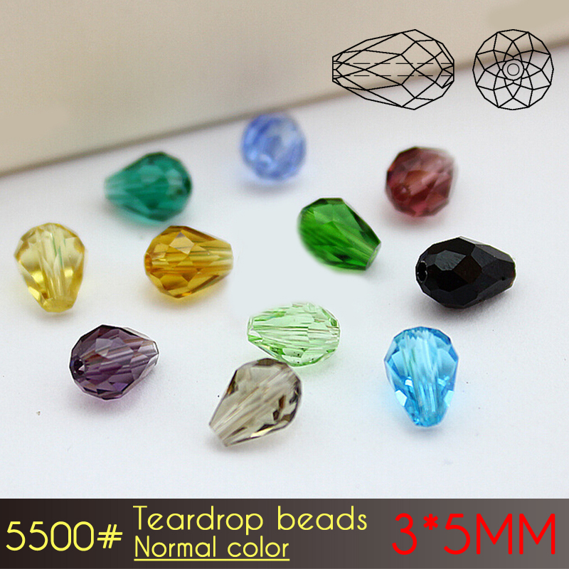 150 AB Cloor Crystal Faceted Teardrop Beads 11x8mm