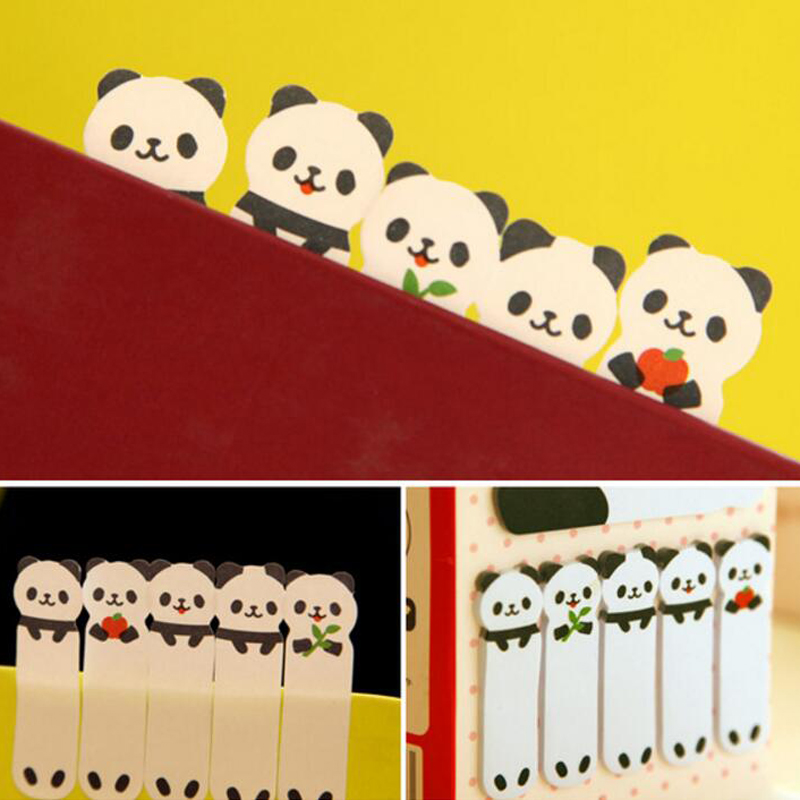 New Creative Sticker Mini Panda Shape Animal Sticky Notes Memo Pad Kid Children Gifts School Office Stationery Supplies